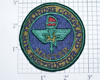 USAF Air Training Command Instructor MASTER Sew-On Vintage Embroidered Patch Subdued Uniform Jacket Shirt Randolph AFB Texas Militaria e32h