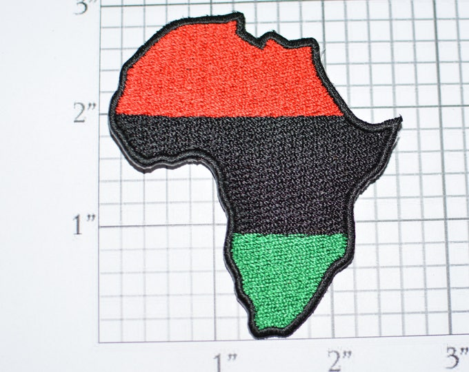 Pan African Rare Vintage Iron-on Embroidered Patch Black Liberation UNIA Africa Pride Jeans Patch Jacket Patch Backpack Patch Memento e25q