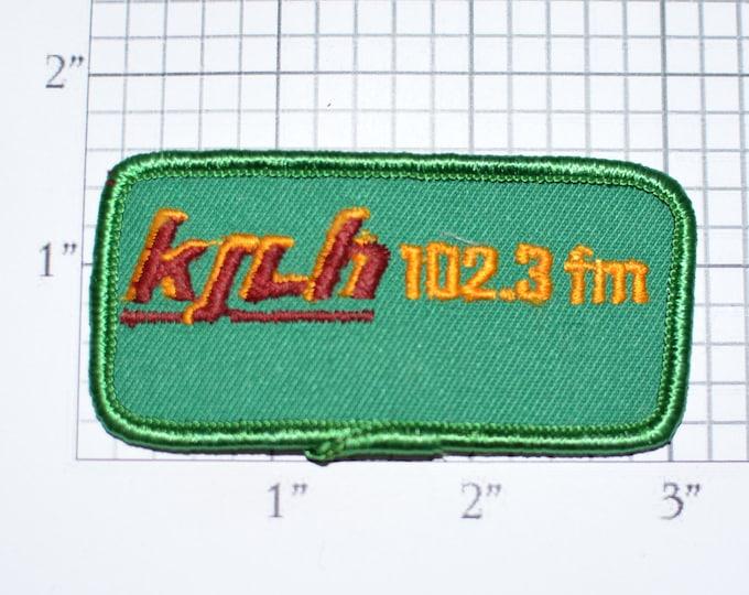 KJLH 102.3 FM Los Angeles Radio Station Vintage Embroidered Clothing Patch Sew-on to Jacket Jeans Vest Hat Backpack LA California Urban e28b