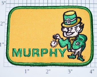Murphy Leprechaun Iron-On Embroidered Clothing Patch for Jacket Jeans Shirt Irish Name Uniform Patch Lucky