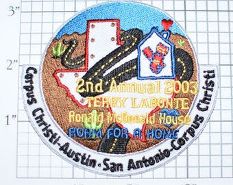 2nd Annual Terry Labonte Roam For a Home Foundation Iron-on Patch Jacket Patch Hat Patch Shirt Patch Biker Patch Motorcycle Patch Texas e22k