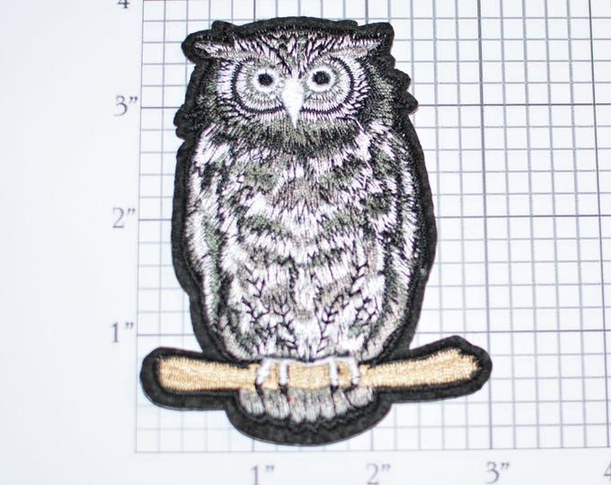 Owl Iron-On Vintage Embroidered Patch Backpack Patch Jeans Patch Shirt Patch Clothing Patch Nature Bird Jacket Patch Vest Patch e15K