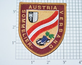 Austria Sommelier Verband (Association) VERY Rare and Unique Sew-On Vintage Embroidered Patch Austrian Wine Jacket Patch Vest Patch e25a