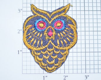 Owl Sew-On Vintage Embroidered Patch Backpack Patch Jeans Patch Shirt Patch Clothing Patch Nature Bird Jacket Patch Vest Patch Cute Fun e26k