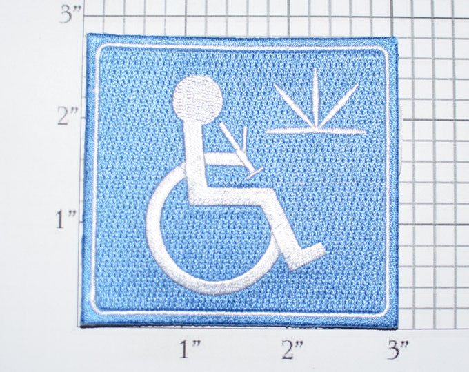 Medical Marijuana Handicapped Wheelchair Iron-on Embroidered Clothing Patch Hemp for Jacket Vest Jeans Backpack Shirt Hat Purse Bong t03b