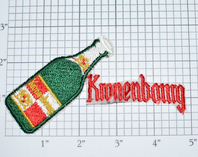 Kronenbourg Iron-On Authentic Vintage Patch Jacket Patch Vest Patch Shirt Patch Hat Patch Backpack Patch Breweriana Memorabilia Bar e21k