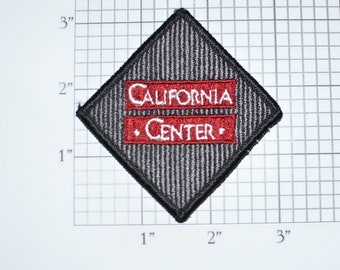 California Center Vintage Sew-On Embroidered Clothing Patch for Employee Uniform Shirt Jacket Vest Hat Collectible Memorabilia Logo Emblem