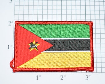 Mozambique Flag Sew-On Vintage Embroidered Applique Patch DIY Clothing Project Sewing Crafts Scrapbook Memorabilia Tourist Keepsake e26h