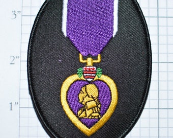 Purple Heart - Iron-On Patch - Military Service - Memorial Day - Remembrance - Respect - Valor