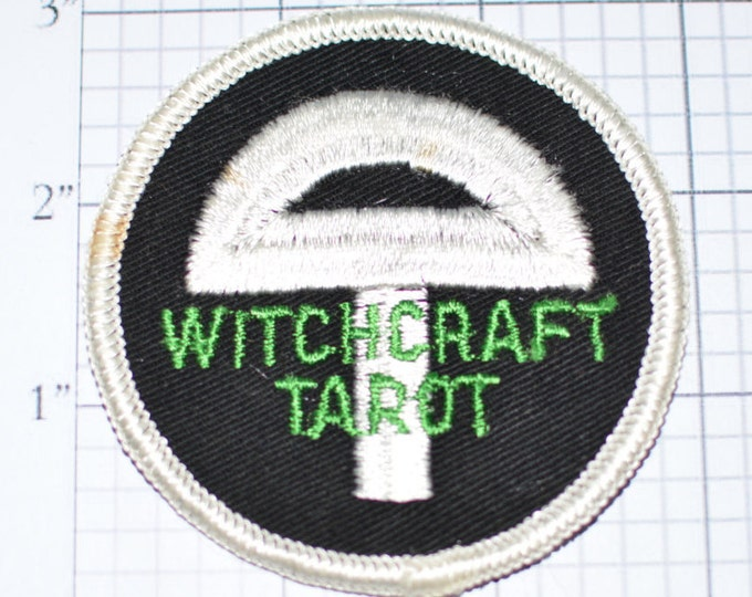 Witchcraft Tarot Rare Sew-On Vintage Embroidered Clothing Patch Applique Pagan Wicca Occult Witchcraft Jacket Patch Jeans Patch Vest e10i