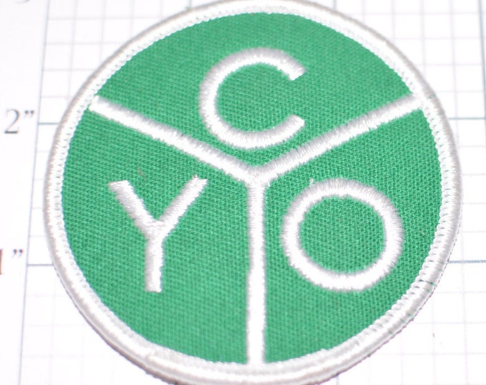 Catholic Youth Organization CYO Green Iron-On Vintage Patch Religious Patch for Jacket Patch Backpack Patch Jeans Patch Christian Patch s15