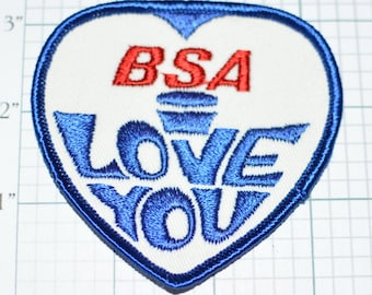 BSA I Love You (Birmington Small Arms) RARE Sew-On Vintage Embroidered Patch Motorcycle Rider Biker Vest MC Emblem Insignia Logo Collectible