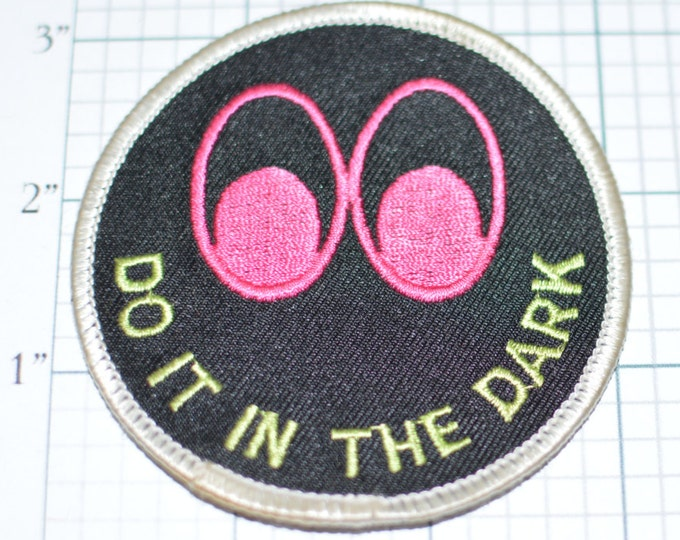 Do It In The Dark, Naughty Iron-on Patch Vintage Patch Embroider Patch Jacket Patch Jeans Patch Backpack Patch Funny Patch s15