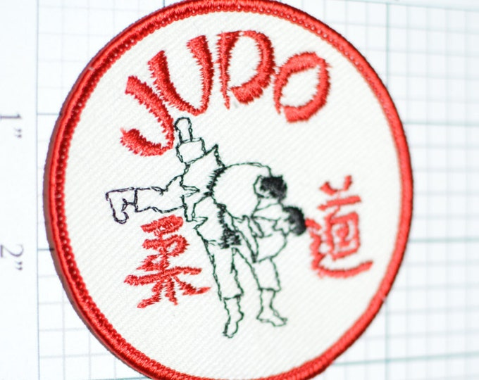 JUDO Martial Arts Vintage Embroidered Sew-On Clothing Patch Japanese Sports Discipline Japan Combat Olympic Judoka Emblem Insignia f1n