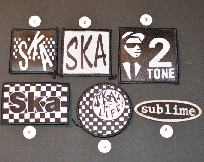 SKA 2 Tone SUBLIME Licensed Vintage Patches, Reggae, Rocksteady Punk Music Band Patch Jacket Patch Vest Patch Jeans Patch Backpack Patch s4