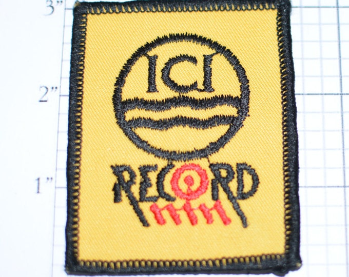 ICI Record - Sew-On Patch - Race Team Sponsor - Imperial Chemical - UK Company -  *Only 1 in Stock* e17f