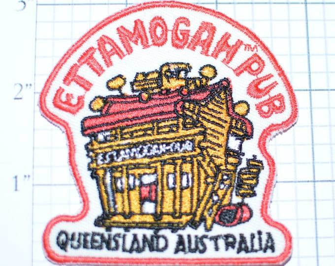 Ettamogah Pub Queensland Iron-On Vintage Travel Patch- Aussie World Australia  e18h