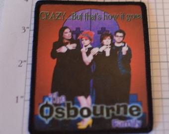 The OSBOURNE Family - Crazy But That's How It Goes - Licensed Vintage Picture Patch Ozzie Sharon Jack Kelly Jacket Patch Shirt Patch d4