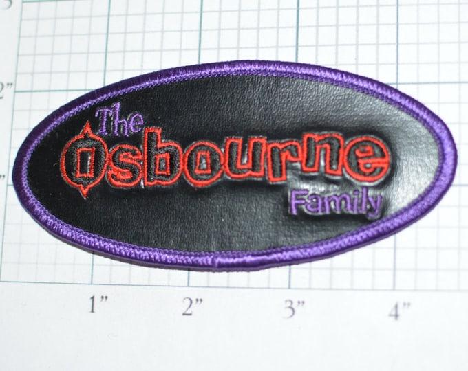 The OSBOURNE Family - Red and Purple on Glossy Faux Leather Background Rare Iron-On Patch Licensed Black Sabbath C&D Visionary d4