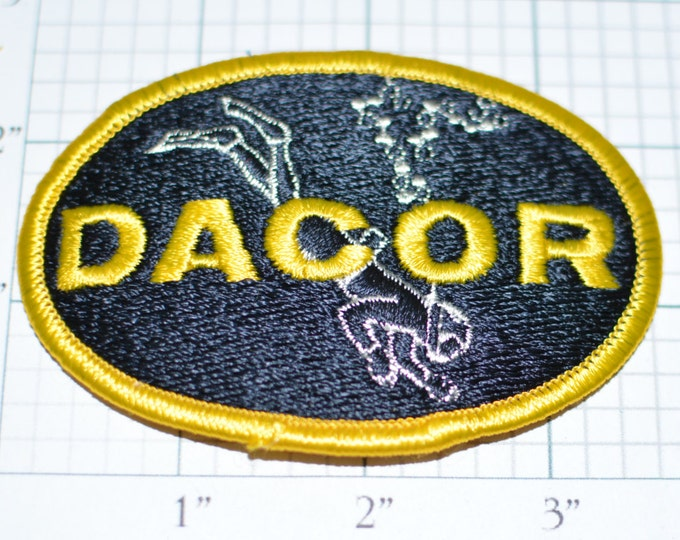 DACOR Vintage Iron-On Patch SCUBA Diving Embroidered Clothing Patch Jacket Patch Hat Patch Vest Patch Shirt Patch DIY Holiday Gift Idea s8