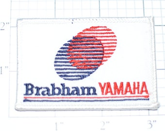 Brabham Yamaha - Racing Team - Vintage Sew-On Patch - 1990-1991 RARE -  *Only 1 in Stock* Souvenir Collectible Logo Emblem Insignia e17d