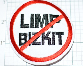 Limp Bizkit, Licensed Iron-on Clothing Patch Band Merchandise for Jacket Backpack Jeans Shirt Vest Applique Do Not Enter Stay Out Emblem s8