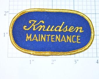 KNUDSEN CREAMERY - Maintenance - Vintage Sew-On Patch California Company Ice Cream Desserts *Only 1 Avilable*  d10b