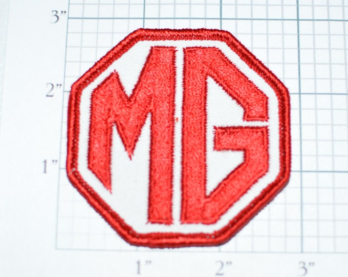 MG Motor Cars Automobile Rare Sew-On Authentic Vintage LICENSED Patch United Kingdom UK Jacket Patch Hat Patch Collectible Memorabilia s2