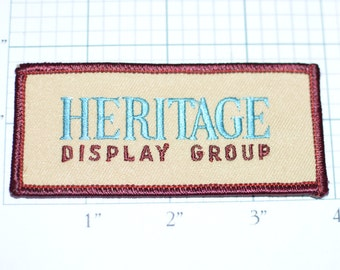 Heritage Display Group Rare Vintage Logo Embroidered Clothing Patch for Uniform Jacket Vest Shirt DIY Clothes Hole Repair Mend Fix e10b