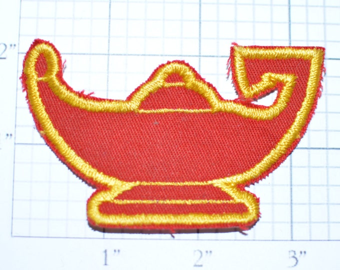 Genie Lamp Sew-On Vintage Patch Exotic Arabian Wish Persian Jacket Patch Vest Patch Shirt Patch Fantasy Fairy Tale Collectible Applique s15