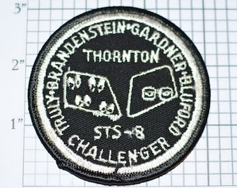 "Mint 3"" STS-8 Space Shuttle Challenger Alternate Mission Patch NASA Embroidered Iron-on Patch Collectible e22f"