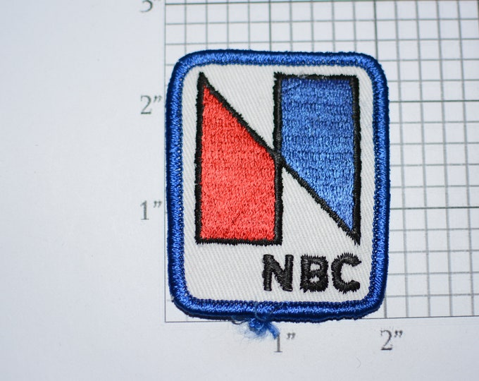 NBC (National Broadcasting Company) 1970's Vintage Sew-on Embroidered Clothing Patch Employee Uniform Logo Emblem Crest Retiree Gift Idea