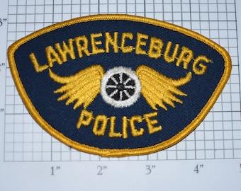Lawrenceburg Police Motorcycle Cop Sew-on Embroidered Vintage Clothing Patch Uniform Shoulder Collectible Memorabilia Memento Keepsake Logo