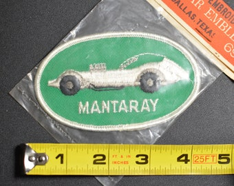 1960's Dal-Emblem Licensed Vintage Mantaray Concept Car Swiss Embroidered Patch Sew-on Applique Sports Car Emblems Automobilia Insignia t1