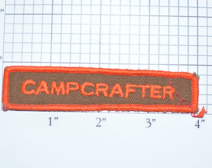 CAMPCRAFTER Vintage Embroidered Iron-on Clothing Applique Patch Tab Scouting Uniform Jacket Shirt Vest Hat Sewing Emblem Logo Camping e32J