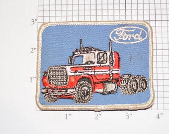 Ford Truck Rare Iron-On Embroidered Clothing Patch (Stained) for Trucker Diesel Mechanic Uniform Shirt Jacket Tech Technician Service Garage