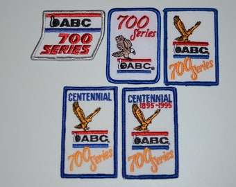 """ABC (American Bowling Congress) """"700 Series"""" Achievement Iron-on Vintage Embroidered Clothing Patch for Bowler Shirt Scrapbook Award Emblem"""