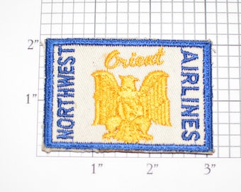 Northwest Airlines Orient Rare Vintage Sew-On Embroidered Clothing Patch Uniform Shirt Vest Pilot Flight Attendent Collectible Memorabilia