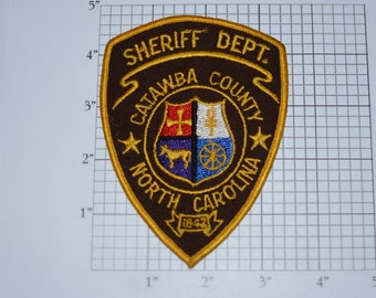 Sheriff's Dept Catawba County N.C. Sew-on Embroidered Patch, Shoulder Patch Uniform Shirt Patch Jacket Patch Vest Patch Law Enforcement Gift