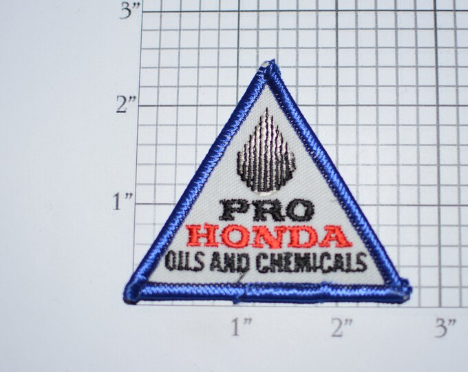 Pro Honda Oils and Chemicals Vintage Embroidered Clothing Patch for Uniform Shirt Jacket Vest Hat Emblem Logo Insignia Lubricants Chem