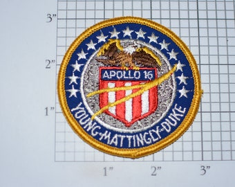 Mint Apollo 16 XVI Vintage Embroidered Iron-on Clothing Patch NASA Space Mission Aerospace Collectible Memorabilia Astronaut Collector Gift