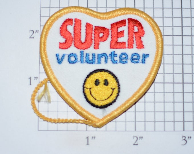 Super Volunteer Embroidered Iron-on Clothing Patch for Jacket Shirt Vest Backpack Jeans Collectible Souvenir Emblem