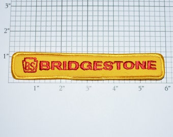 Bridgestone Motorcycles Iron-On Authentic Vintage Embroidered Clothing Patch Biker Jacket Vest Racing Tires Tyre Mechanic Workshirt Logo s16