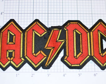 AC / DC Authentic 2007 Licensed Iron-on Embroidered Clothing (Worn/Dirty See Description) Patch Rock Band Music 1988 Souvenir Emblem Logo