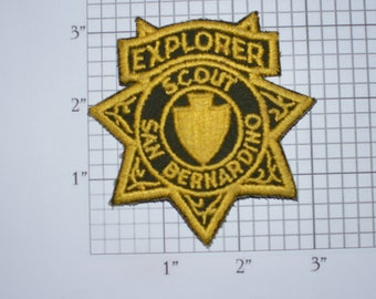 San Bernardino County Explorer Scout Police Sheriff's Dept Iron-on Embroidered Patch Uniform Shoulder Jacket Vest Collectible Keepsake Kids