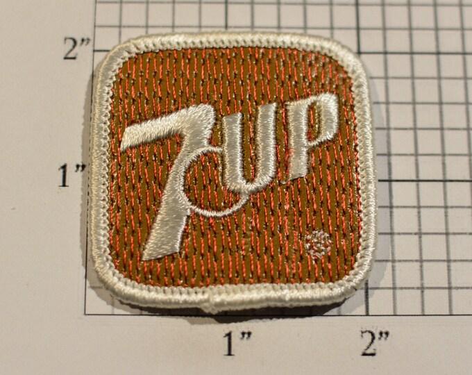 7Up Rare Authentic Vintage Iron-On Embroidered Clothing Patch Soft Drink Employee Uniform Jacket Vest Shirt Hat Emblem Keepsake Collectible