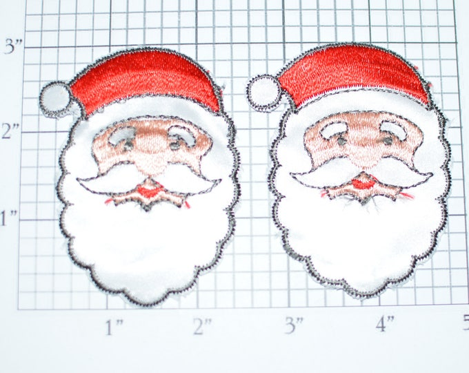 Santa Claus Sew-on Embroidered Vintage Clothing Patches Christmas Cheer DIY Craft Project Idea Emblem for Jacket Shirt Hat Bag Holidays s5