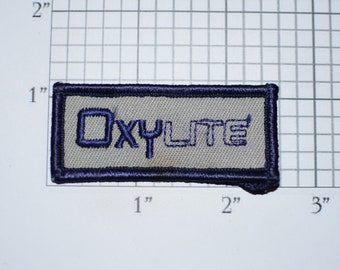 OxyLite Iron-On Vintage Embroidered Clothing Patch Employee Uniform Shirt Jacket Emblem Workshirt Logo Company Worker Name Tag Work Shirt