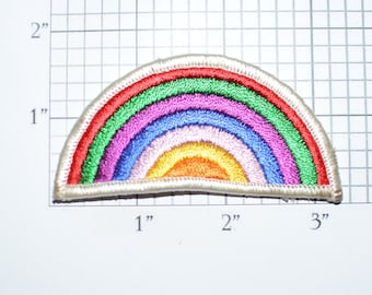 Rainbow Iron-On Vintage Embroidered Clothing Patch Jacket Patch Shirt Jeans Patch Backpack Patch Positive Thinking Diversity Acceptance e30p