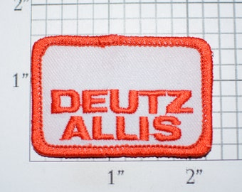Deutz Allis Small Vintage Embroidered Iron-on Clothing Patch for Employee Uniform Work Shirt Jacket Logo Agriculture Tractor Manufacturer